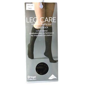 Leg Care Compression Socks Sz 7-10 Cotton Blend